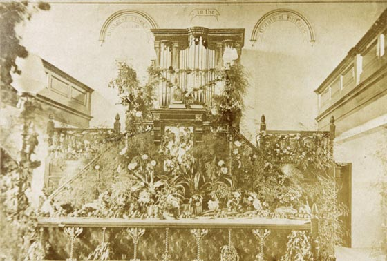 Church Decorated for Harvest 1900s