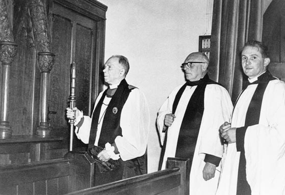Dedicating The Choir Vestry 1960s