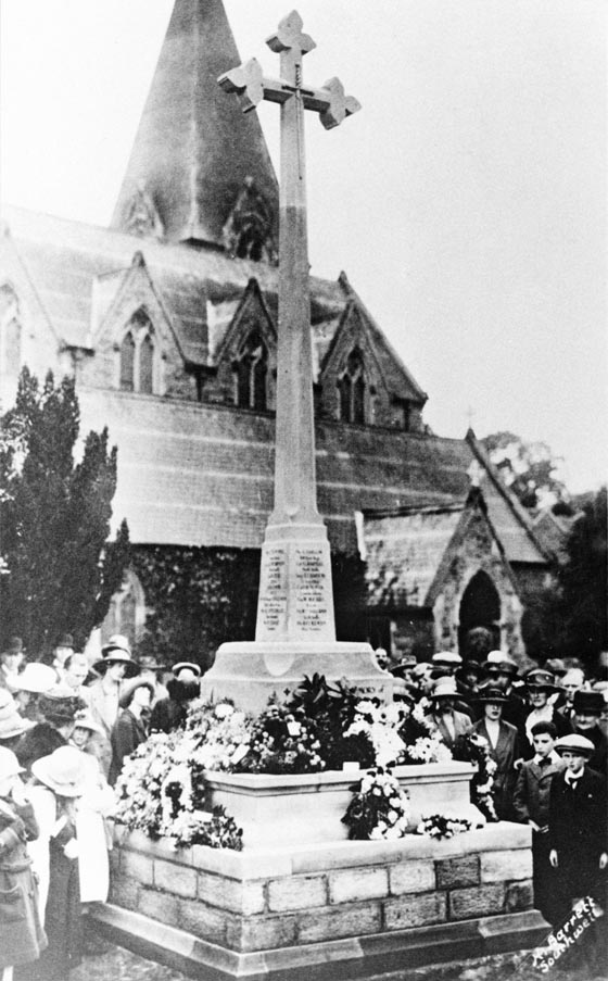 Church - Dedicating War Memorial 1920