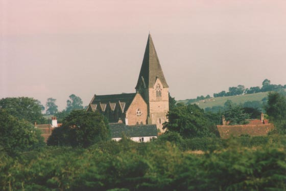 Farnsfield Church from the east