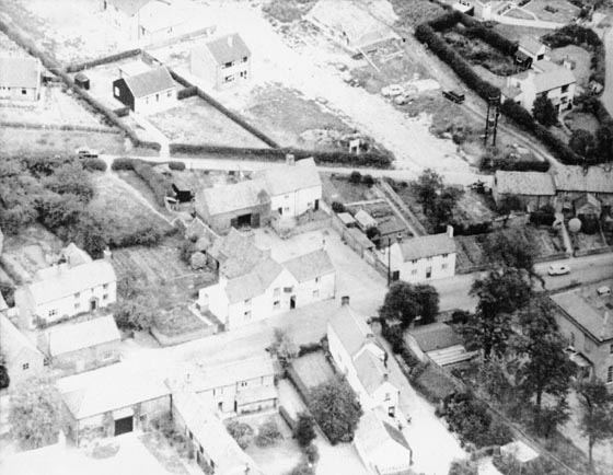 Aerial view of The Ridgeway development 1960s