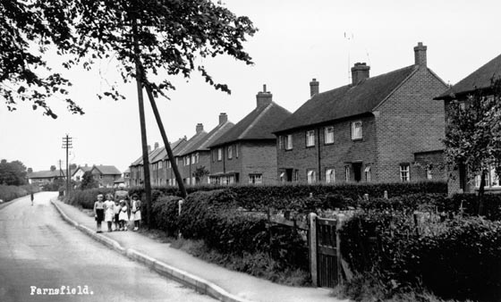 Council housing on Station Lane 1953