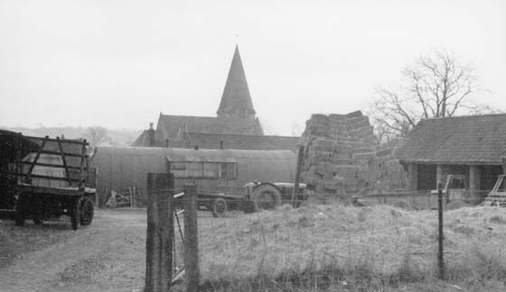 View of Church from Stackyard Church Farm
