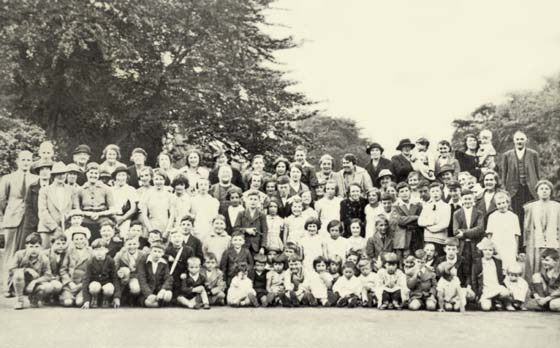 Church School outing to Marlock 1938-9