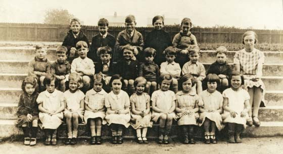 Miss Saywell's class 1935 C of E School