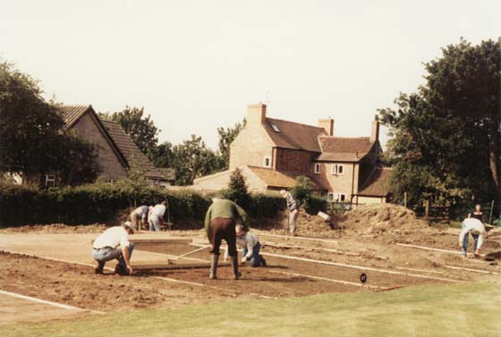 Preparing the ground for the extension of the greens