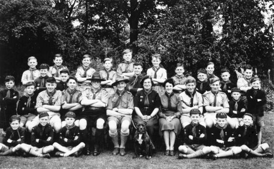 Scouts and Cubs 1954
